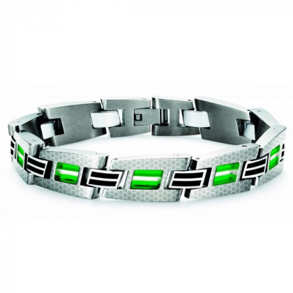 Браслет мужской Tonino Lamborghini Corsa Collection Green Crystal \ TL TBR005014