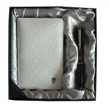 Набор Pierre Cardin: ручка шариковая + обложка для паспорта \ PS1138WH