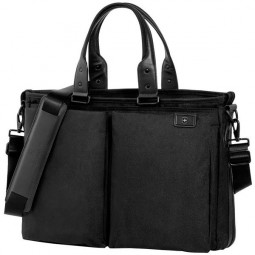 Сумка-портфель VICTORINOX Satchel 15,6'', чёрная, баллистический нейлон TourMax, 49x18x33 см, 29 л \ 32341401