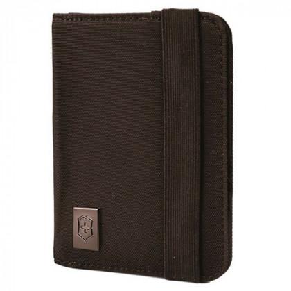 Обложка для паспорта VICTORINOX, с защитой от сканирования RFID, чёрная, нейлон 800D, 10x1x14 см \ 31172201
