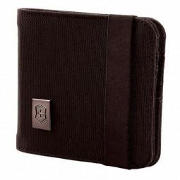 Бумажник VICTORINOX Bi-Fold Wallet, чёрный, нейлон 800D, 11x1x10 см \ 31172501