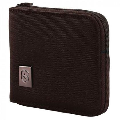 Бумажник VICTORINOX Tri-Fold Wallet, на молнии, чёрный, нейлон 800D, 11x1x10 см \ 31172601