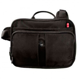 Сумка VICTORINOX Travel Companion, с системой защиты RFID, чёрная, нейлон 800D, 27x8x21 см, 4 л \ 31173901