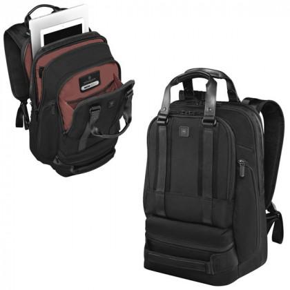 Рюкзак VICTORINOX Lexicon Professional Bellevue 15',6', чёрный, нейлон/кожа, 30x19x46 см, 26 л \ 601115