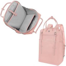 Сумка-рюкзак VICTORINOX Victoria Harmony 15,6'', розовое золото, нейлон/кожа/микрозамша, 28x13x41 см \ 601771