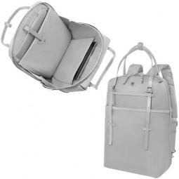 Сумка-рюкзак VICTORINOX Victoria Harmony 15,6'', серебристая, нейлон/кожа/микрозамша, 28x13x41 см \ 601772