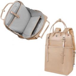 Сумка-рюкзак VICTORINOX Victoria Harmony 15,6'', золотистая, нейлон/кожа/микрозамша, 28x13x41 см \ 601773