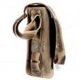 """Сумка наплечная вертикальная А4 WENGER """"STONEHIDE"""", коричневый, кожа, 35х13x36 см \ W16-03"""