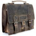 """Портфель WENGER """"STONEHIDE"""", коричневый, кожа, 38x14x33 см \ W16-11"""