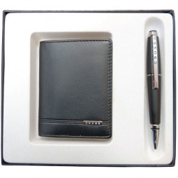 Набор подарочный Cross, 2 пр. Состав набора:чехол для кредитных карт и ручка. \ AC018036-1NAB