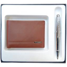 Набор подарочный Cross, 2 пр. Состав набора: портмоне и ручка. \ AC018068-3NAB