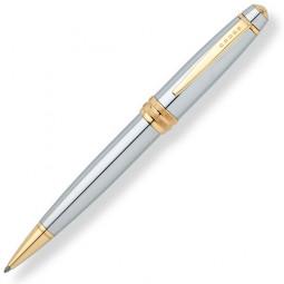 Шариковая ручка Cross Bailey. - серебристый с золотистой отделкой. \ AT0452-6