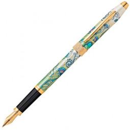 """Перьевая ручка Cross Botanica. Цвет - """"Зеленая лилия"""" \ AT0646-4MF"""