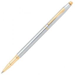 Ручка-роллер Cross Century Classic. Цвет - серебристый с золотистой отделкой. \ AT0085-75