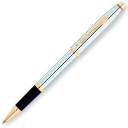 Ручка-роллер Selectip Cross Century II. Цвет - серебристый с золотистой отделкой. \ 3304