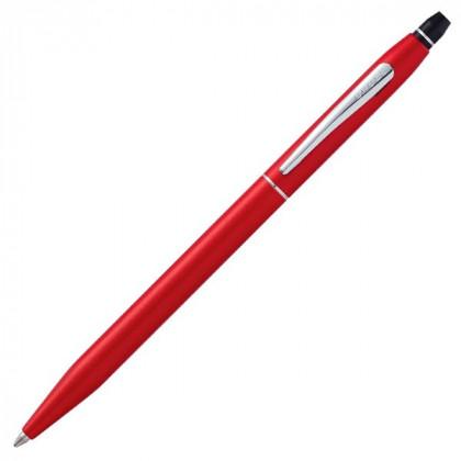Шариковая ручка Cross Click в блистере, с доп. гелевым стержнем черного цвета. -красный \ AT0622S-119