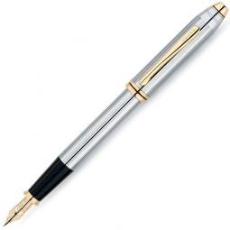 Перьевая ручка Cross Townsend. - серебристый с золотистой отделкой. \ 506-MF