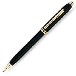 Шариковая ручка Cross Townsend, тонкий корпус. Цвет - черный. \ 572