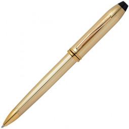 Шариковая ручка Cross Townsend. Цвет - золотистый. \ 702TW