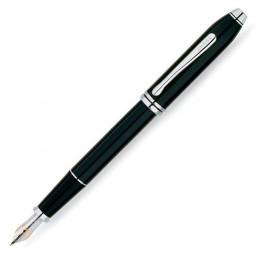 Перьевая ручка Cross Townsend. Цвет - черный, перо - золото 18К/родий, тонкое. \ AT0046-4FD