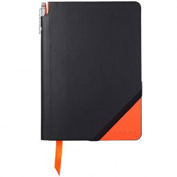 Записная книжка Cross Jot Zone, A5, 160 страниц в линейку, ручка в комплекте. Цвет - черно-оран \ AC273-1M
