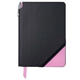 Набор записная книжка с ручкой Cross Jot Zone, A5, 160 страниц в линейку,   черно-розовый \ AC273-4M