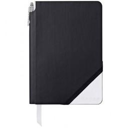 Записная книжка Cross Jot Zone, A5, 160 страниц в линейку, ручка в комплекте. Цвет - черно-белы \ AC273-6M