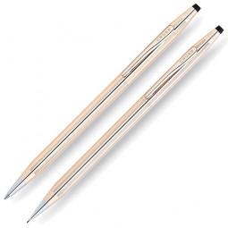 Набор Cross Century Classic: шариковая ручка и механический карандаш 0.7мм. Цвет - золотистый. \ 150105
