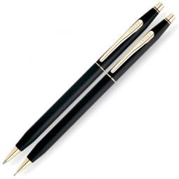Набор Cross Сentury Classic: шариковая ручка + механический карандаш 0.5мм. Цвет - черный. \ 250105