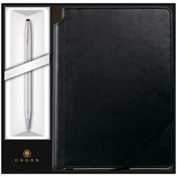 Набор: Шариковая ручка Cross Classic Century Chrome и Записная книжка Cross Journal Classic Black,A5 \ 3502/1M