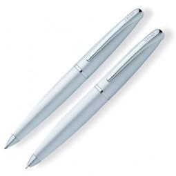 Набор Cross ATX: шариковая ручка и механический карандаш 0.7мм. Цвет - матовый хромовый \ 881-1