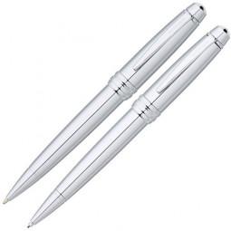Набор Cross Bailey: шариковая ручка и механический карандаш 0.7мм. - серебристый. \ AT0451-10