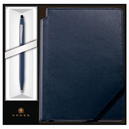 Набор: Шариковая ручка Cross Click Midnight Blue и Записная книжка Cross Journal Midnight Blue, A5 \ AT0622-121/2M