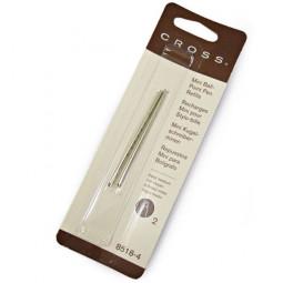 Стержень шариковый Cross для ручки Tech3+ Tech4, средний, черный (2шт) \ 8518-4