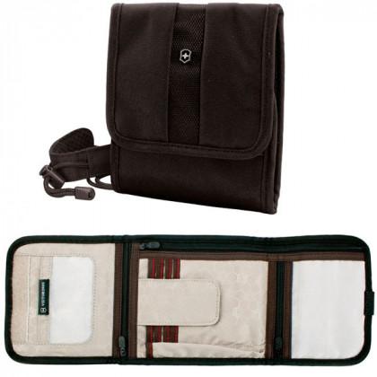 Бумажник VICTORINOX Lifestyle Accessories 4.0 Travel Wallet, на шею или пояс, чёрный, 15x3x17 см \ 31172301