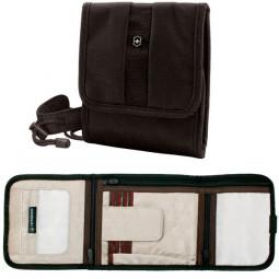 Бумажник Victorinox Lifestyle Accessories 4.0 Travel Wallet на шею или пояс чёрный 15x3x17 см / 31172301