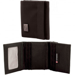 Бумажник VICTORINOX Lifestyle Accessories 4.0 Tri-Fold Wallet, чёрный, нейлон, 9x3x10 см \ 31172401