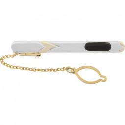 Заколка для галстука черный лак позолота/посеребрение Gran Carro Cravatta Clip \ GC7114000