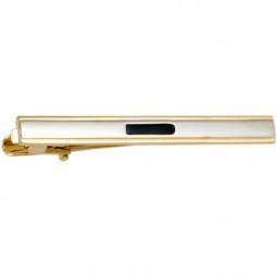 Заколка для галстука черный лак позолота Gran Carro Cravatta Clip \ GC7303253