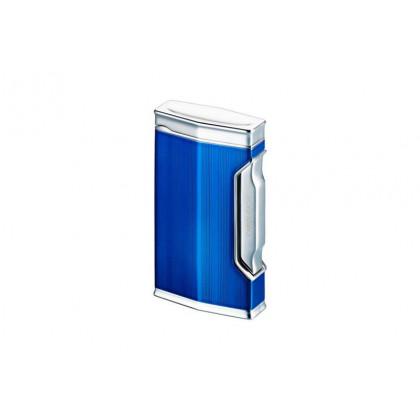 Турбозажигалка Caran d' Ache Rhodium Blue Clear Engine-turn \ CD01-1002