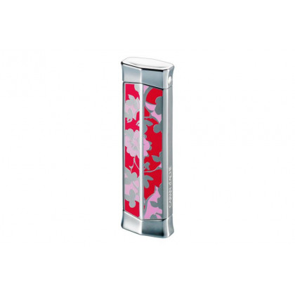 Турбозажигалка Caran d' Ache Rhodium Flower Pink \ CD02-2004