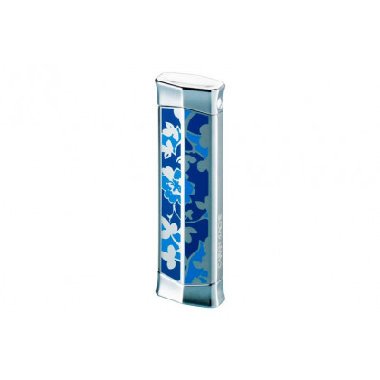 Турбозажигалка Caran d' Ache Rhodium Flower Blue \ CD02-2005
