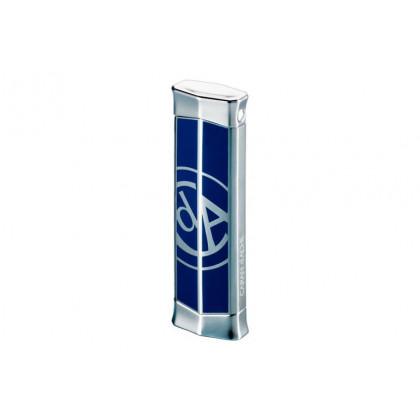 Турбозажигалка Caran d' Ache Rhodium w/CARAN d` ACHE Logo Blue \ CD02-2007