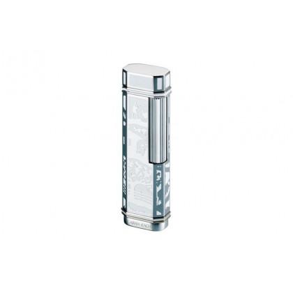 Зажигалка Caran d' Ache White lacquer high plate/dia silver \ CD03-3002