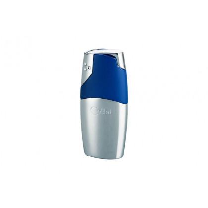 Зажигалка Colibri Rio Polished Silver & Matte Blue \ CB QTR-690003E