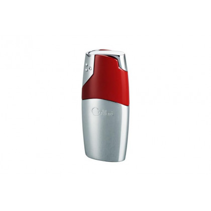 Зажигалка Colibri Rio Polished Silver & Red Lacquer \ CB QTR-690004E