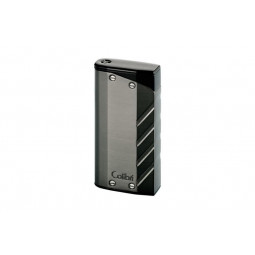 Зажигалка Colibri Torque gunmetal finish with a matte black double jet flame \ CB LI-300T002