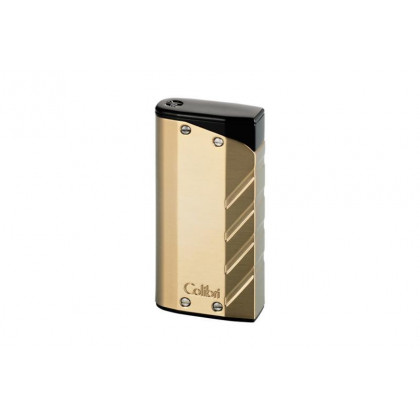 Зажигалка Colibri Torque gold finish with a matte black/double jet flame \ CB LI-300T003