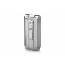 Зажигалка Colibri Tri-Cutta satin silver \ CB QTR-219002E