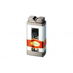 Зажигалка Colibri Precision satin silver / gunmetal \ CB QTR-111002-E
